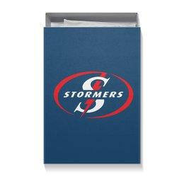 """Коробка для футболок """"Стормерс регби"""" - спорт, регби, юар регби, супер регби"""