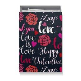 """Коробка для футболок """"День Св. Валентина"""" - день св валентина, валентинка, сердца, любовь"""