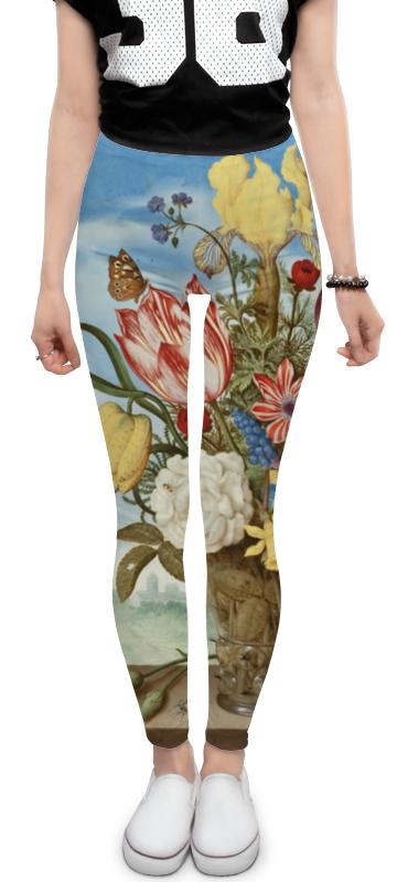 Леггинсы Printio Букет цветов на полке (амброзиус босхарт) федотова м дизайн букет цветов