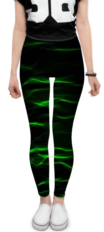 Леггинсы Printio Зеленые линии юбка в складку printio зеленые линии