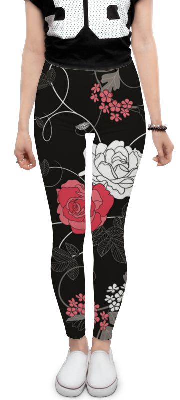 Леггинсы Printio Красная и белая розы платье без рукавов printio розы на чёрном