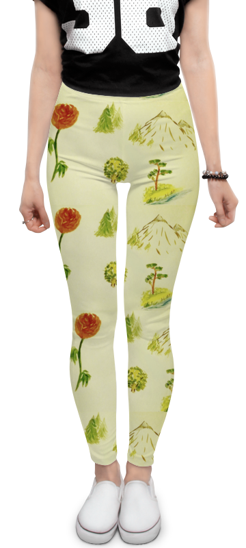 Printio Горы, сосны и цветы