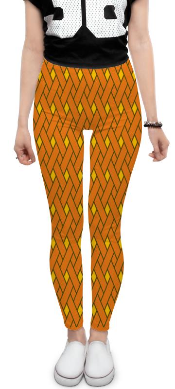 Леггинсы Printio Оранжевые линии