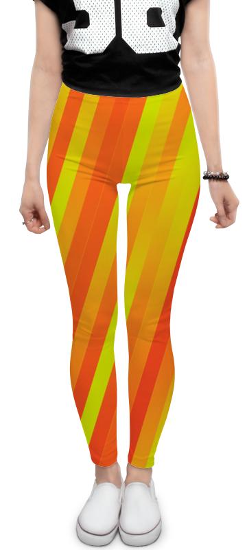 Леггинсы Printio Желто-оранжевые линии