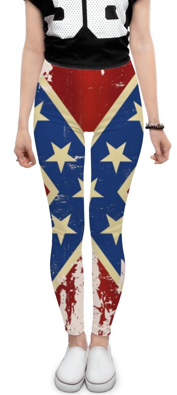 цены на Леггинсы Printio Флаг конфедерации сша