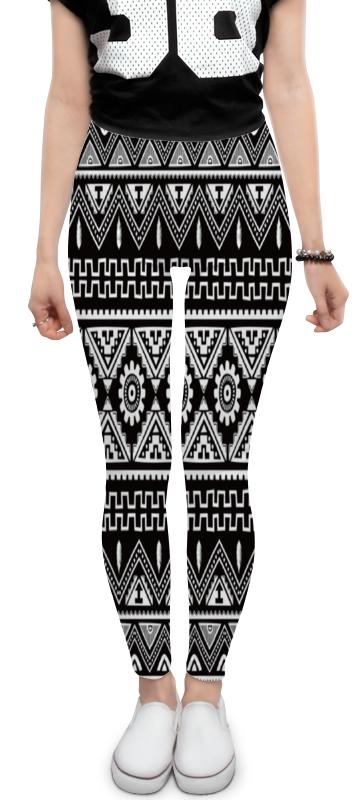 Леггинсы Printio Черно-белая графика majaly платье majaly madonna sea черно белая полоска принт
