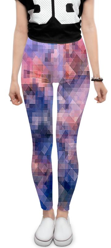 Леггинсы Printio Пиксель-арт. сине-розовый паттерн стоимость