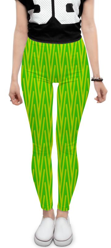 Леггинсы Printio Желто-зеленый узор жучок zhorya желто зеленый
