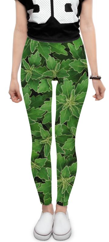 Леггинсы Printio Зеленые листья derbe мыло белые цветы и зеленые листья 100 г