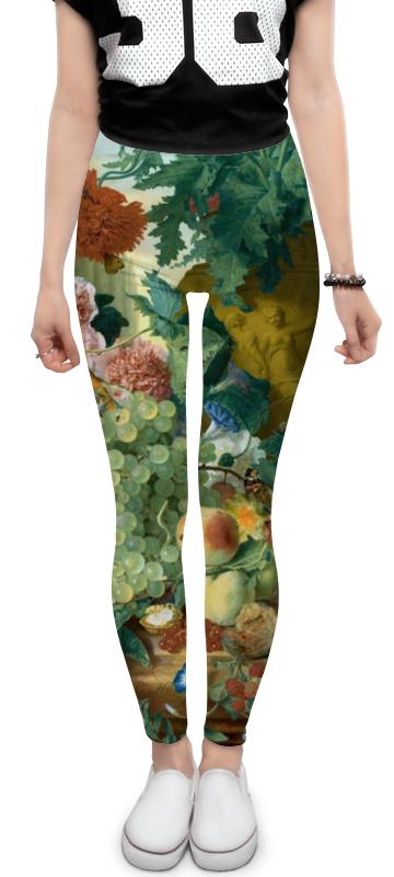 Леггинсы Printio Фрукты и цветы (ян ван хёйсум) ян ван гойен альбом