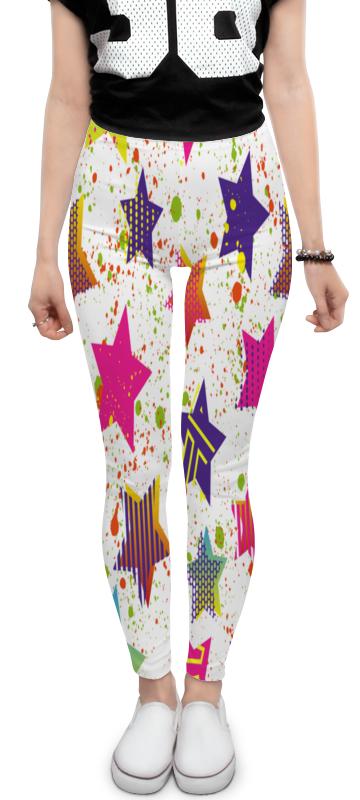 Леггинсы Printio Звезды брюки джинсы и штанишки coccodrillo леггинсы для девочки basic girl звезды