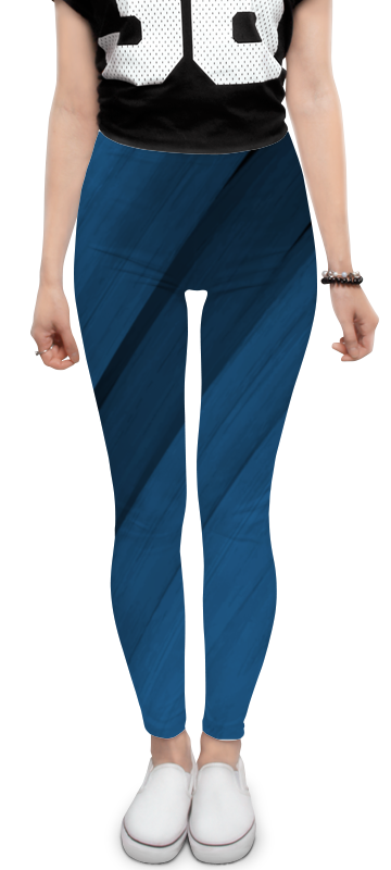 Леггинсы Printio Синяя абстракция юбка карандаш укороченная printio синяя абстракция
