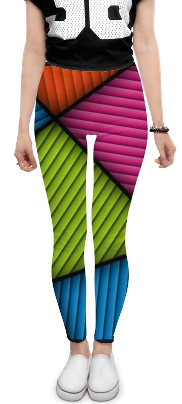 Леггинсы Printio Цветная абстракция