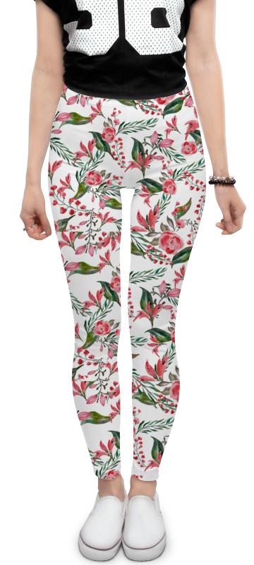 Леггинсы Printio Цветы (пион, роза) войти обычные брюки хлопок черный белый стиль в национальный ветер пион вышитые стрейч леггинсы большой ярдов женский