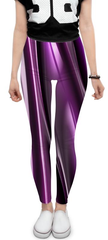 Леггинсы Printio Фиолетовые линии юбка карандаш укороченная printio фиолетовые линии