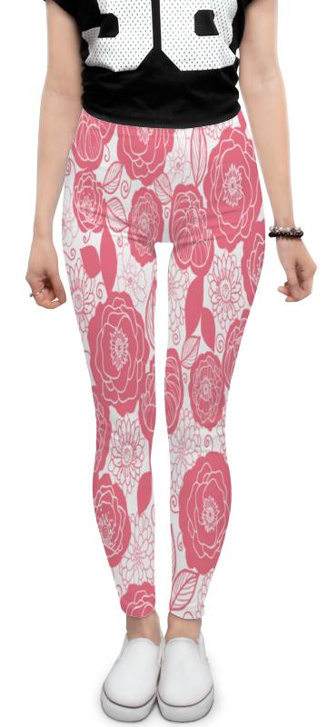 Леггинсы Printio Бело-розовый узор