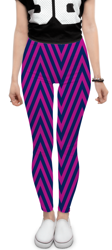 Леггинсы Printio Фиолетовые полосы