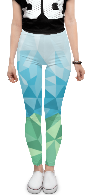 Леггинсы Printio Ural polygonal metal crossbar polygonal mirrored sunglasses