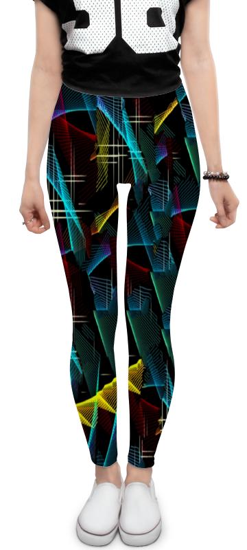 Леггинсы Printio Цветные полосы юбка карандаш printio цветные полосы