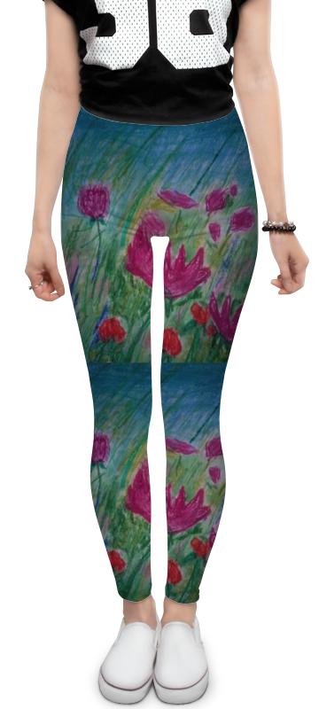 Леггинсы Printio Полевые цветы невидимка для волос funny bunny розовые цветы 2 шт