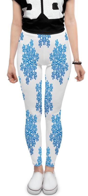 Леггинсы Printio Голубые снежинки костюм маленькой снежинки 32
