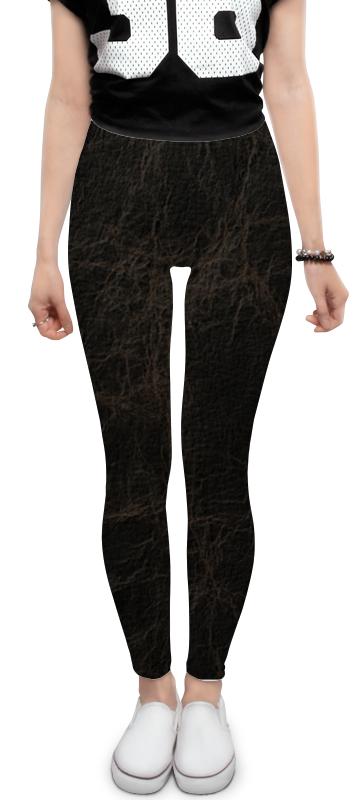 Леггинсы Printio Кожаная текстура кожаная юбка