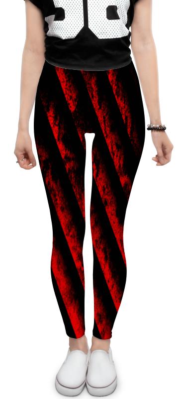 Леггинсы Printio Черно-красные полосы bebendorff ботинки зимние карл черно красные