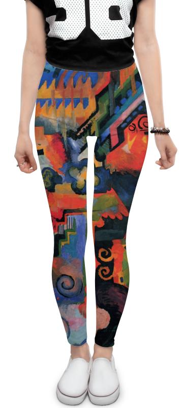 Леггинсы Printio Цветовая композиция (август маке) платье без рукавов printio парусник в тегернзее август маке
