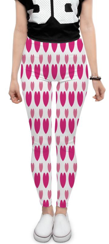 Леггинсы Printio Розовые сердечки леггинсы printio розовые свинки