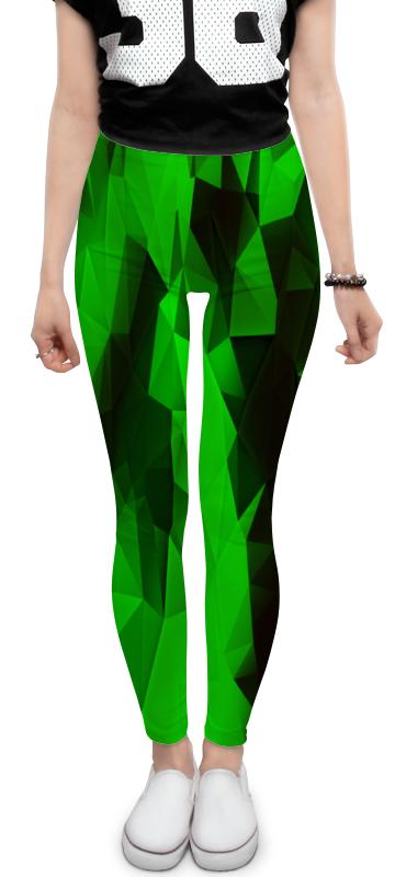 Леггинсы Printio Зеленые стекла зеленые цепочки