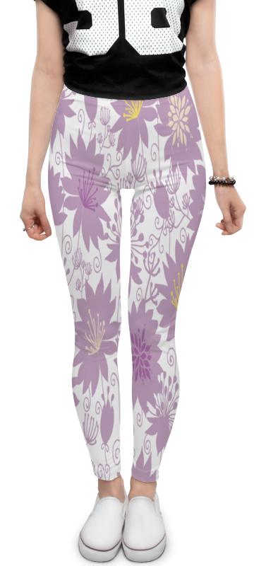 Леггинсы Printio Фиолетовые цветы