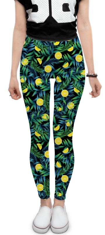 Леггинсы Printio Яркие лимоны в тропиках леггинсы printio яркие лимоны в тропиках