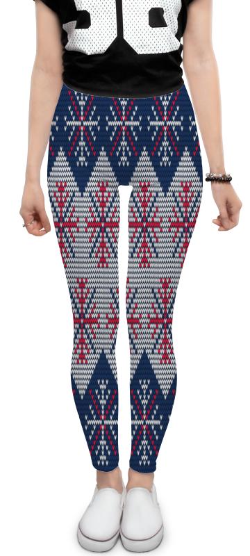 Леггинсы Printio Цветные снежинки костюм маленькой снежинки 32