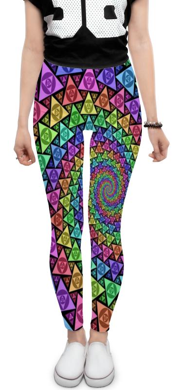 Леггинсы Printio Треугольники завернутые в спираль . сексуальная грудь завернутые в бикини летом кружева г жа три типа белье костюм