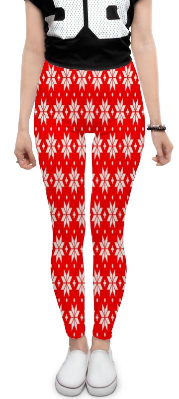 Леггинсы Printio Красно-белый узор футляр для картриджей 2 стилуса для приставки ds lite красно белый