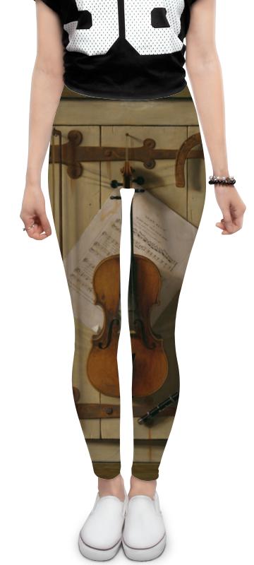 Леггинсы Printio Натюрморт со скрипкой (уильям харнетт) пазл castor land 68 47см натюрморт со скрипкой и живописью 1000эл