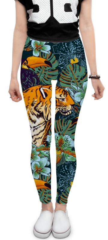 Леггинсы Printio Тигриная охота отсутствует охота для начинающих