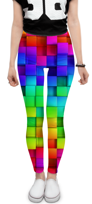 Printio Кубики леггинсы printio кубики красками