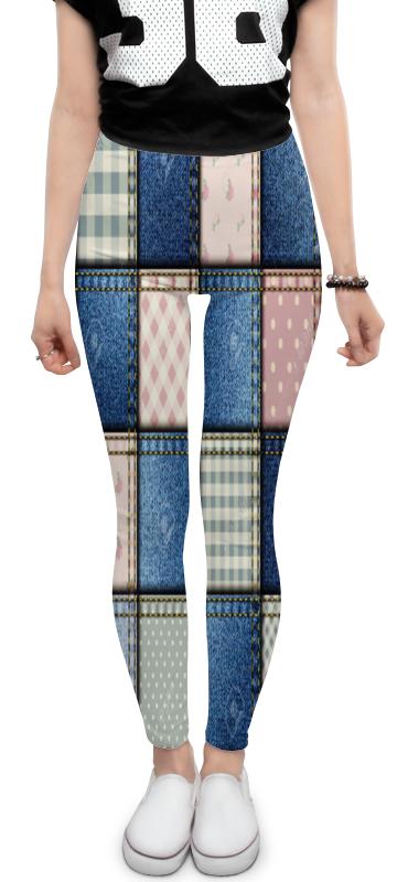 Леггинсы Printio Иллюзия джинсовой ткани. сшитые квадраты. опасная иллюзия