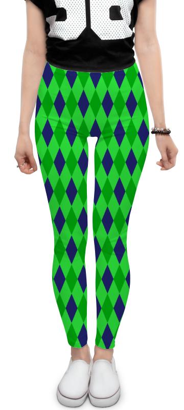 Леггинсы Printio Сине-зеленые квадраты платье с рукавами printio сине зеленые квадраты