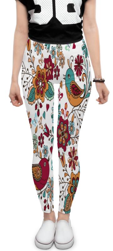 Леггинсы Printio Птицы и цветы платье без рукавов print bar цветы и птицы
