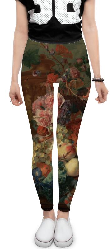 Леггинсы Printio Цветы (ян ван хёйсум) валь ян длинное долгое путешествие