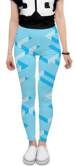 """Леггинсы """"Голубой лабиринт"""" - арт, паттерн, геометрия"""