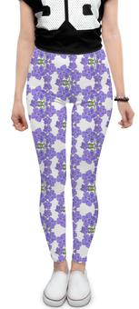 """Леггинсы """"Фиалки"""" - цветы, фиолетовый, мода, паттерн, фиалка"""