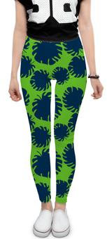 """Леггинсы """"Тропические листья"""" - листья, ярко, тренд, тропики, джунгли"""