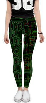 """Леггинсы """"Печатная плата"""" - микросхема, технологии, электроника, электрика, печатная плата"""
