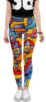 """Леггинсы """"MX0`]MM02Y"""" - арт, узор, абстракция, фигуры, текстура"""