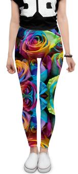 """Леггинсы """"Цветы Розы"""" - арт, цветы, 8 марта, танцы, розы"""