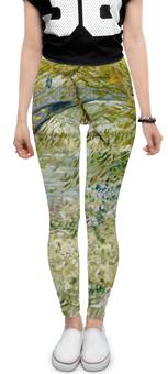 "Леггинсы ""Берег реки весной ( Винсент Ван Гог)"" - картина, ван гог, живопись"
