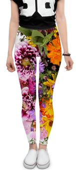 """Леггинсы """"Цветы"""" - арт, цветы, 8 марта, день рождения, букет"""